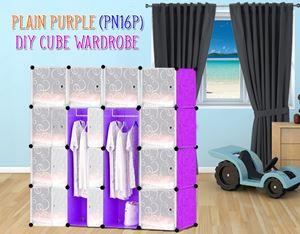 Plain Purple 16C DIY Wardrobe (PN16P)