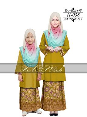 HAPPYkids 2017 Songket Exclusive GIRL ( MUSTARD )