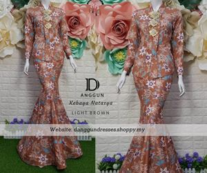 Kebaya Batik Natasya Light Brown