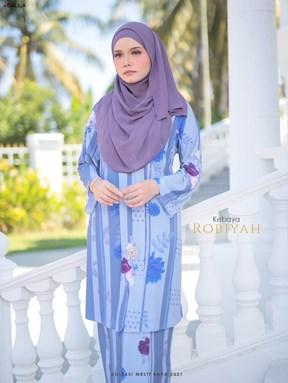 KEBAYA ROBIAH (STEEL BLUE)