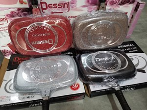 DESSINI 36cm Double Sided Pressure Grill Frying Pan