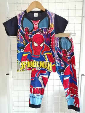 SIZE 2y KIDS Pyjamas  Short Sleeve SPIDERMAN Black