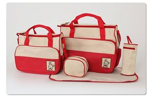 5 IN 1 MOMMY BAG  (RED)