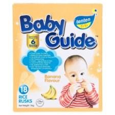 Tenten Baby Guide Banana Flavour Rice Rusks 6 Months Onwards 18pcs 36g