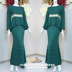 TIARA PEPLUM DRESS