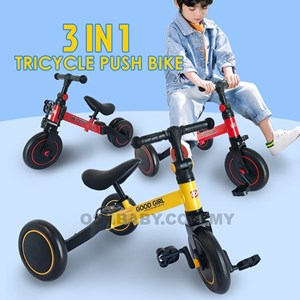 3 IN 1 TRICYCLE PUSH BIKE