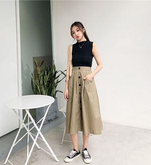 Sleeveless T-shirt  + A Word Skirt