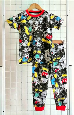 Pyjamas MICKEY SAIL BLACK :  BIG Size 12  (MF)