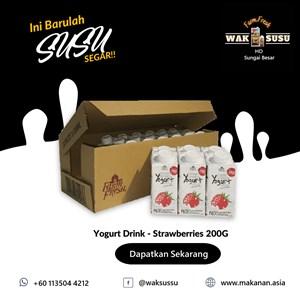 Yogurt Drink - Strawberries 200G X 24 PKTS
