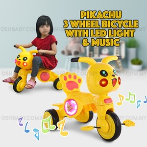 PIKACHU 3 WHEEL BICYCLE WITH LED LIGHT & MUSIC