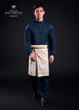 Baju Melayu For Him (Steel Blue)
