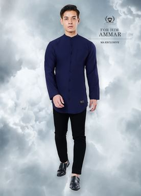 Kurta Ammar For Him (Dark Blue)