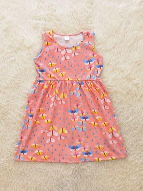 Kids Dress PEACH BUTTERFLY : (1y - 6y) TW