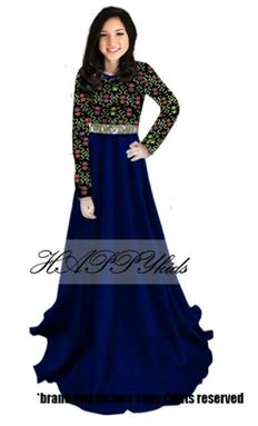 Dress Raya Songket For Mama - Biru