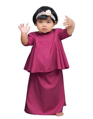 Reflessia Kurung Kids - Purple