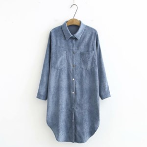 Corduroy Overshirt (Light Blue)