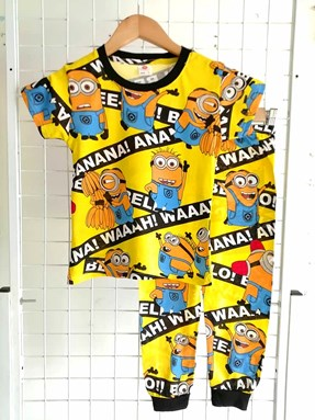Pyjamas MINION BANANA YELLOW :  BIG Size 12