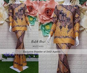 Kurung Batik Dewi Mustard