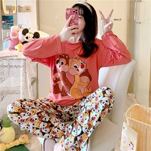 LADIES  PYJAMAS  - CHIP & DALE    (  SIZE M - 2XL )
