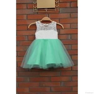 Fresh Light Green Lace Dress