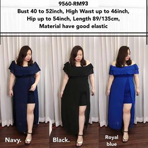 9560 Ready Stock *Bust 40 to 52 inch/ 101-132cm