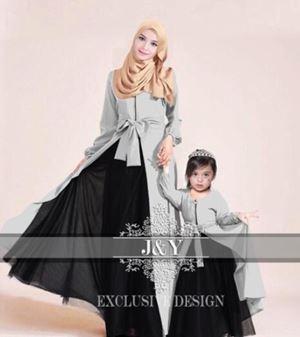 J067 PRINCESS DRESS SET GREY