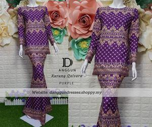 Kurung Batik Qaisara Purple