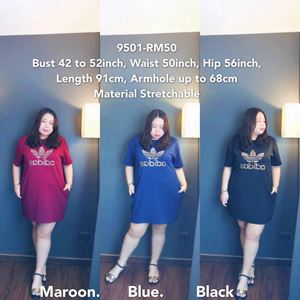 9501 Ready Stock *Bust 42 to 52 inch/ 106-132cm