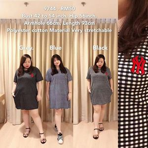 9744 *Ready Stock*Bust 42 to 54 inch/ 107-137cm