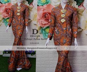 Kebaya Batik Ratna Sari Orange