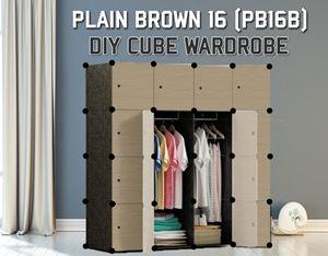 Plain Brown 16C DIY Wardrobe (PB16B)