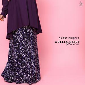 Adelia Skirt Printed : Dark Purple