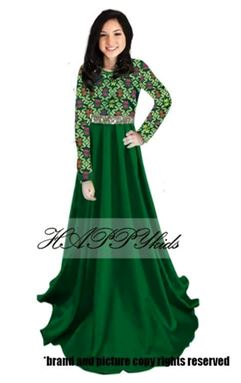 Dress Raya Songket For Mama - Hijau