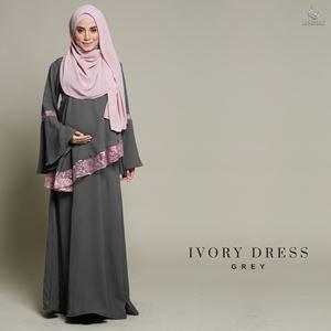 Ivory Dress : Grey