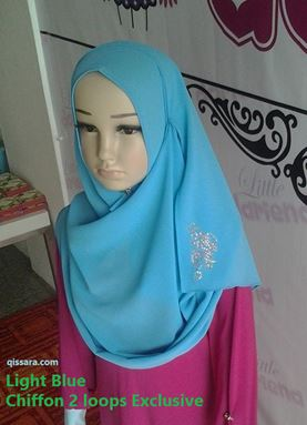 LD Chiffon 2loops Exclusive (Light Blue)