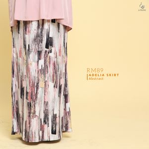 Adelia Skirt Printed : Abstract