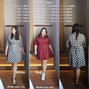 NC401 Ready Stock  *Bust 42 to 58 inch/ 108-148cm