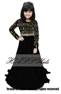 Dress Raya Songket For Girl - Hitam