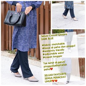Casual Pant - DARK BLUE - (Maternity Friendly)