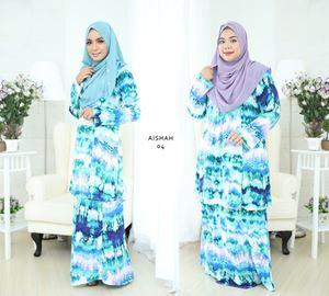 Baju Kurung Aisyah (A04) S - 4XL