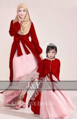 J073 PRINCESS DRESS SET RED