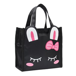 Hand Carry Cartoon Lunch Bag ( BLACK BUNNY )