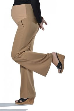 Maternity Wide Leg Pant Mi - Tawny Brown