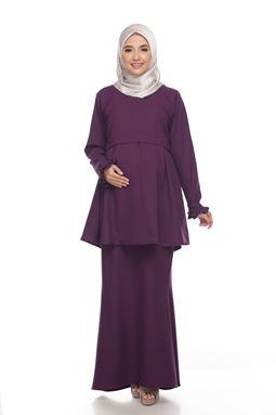 Alarra Kurung - Dark Purple