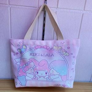 Cartoon Canvas Bag - KIKI & LALA  ( Size: Height 22cm* Width 30cm* )