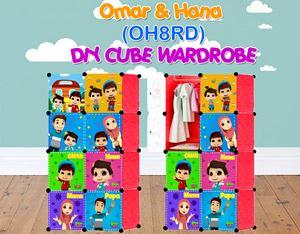 Omar & Hana RED 8C DIY WARDROBE (OH8RD)