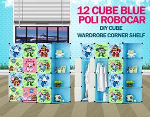 Robocar Poli Blue 12C DIY Cube W Corner Rack (PL12BR)