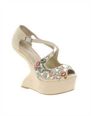 HIGH IN THE SKY Embellished Wedges