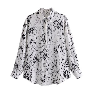 BLACK AND WHITE BRUSH PAINTING PRINTED TOP