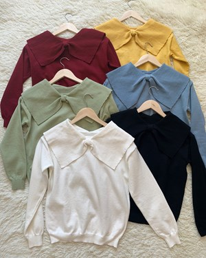 Bow knit top